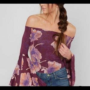 Free People Flared Sleeve Top